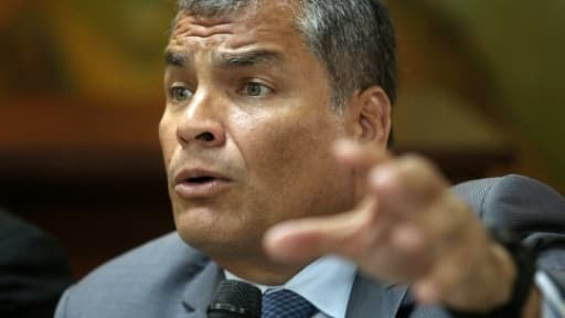L'ancien président équatorien Rafael Correa, à Guayaquil, en Equateur, le 5 février 2018