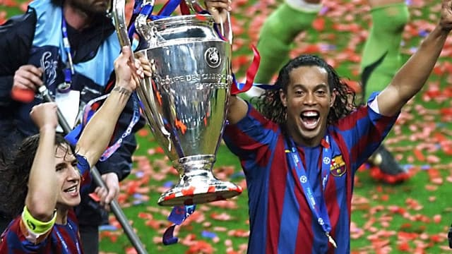 Puyol et Ronaldinho
