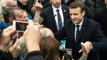 Emmanuel Macron au Touquet, le 7 mai 2017 après avoir voté.