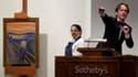 """Une version du tableau """"Le Cri"""", la célèbre oeuvre du peintre norvégien Edvard Munch, a été acquise pour la somme record de 120 millions de dollars lors d'une vente aux enchères organisée par la maison Sotheby's à New York. /Photo prise le 2 mai 2012/REUT"""