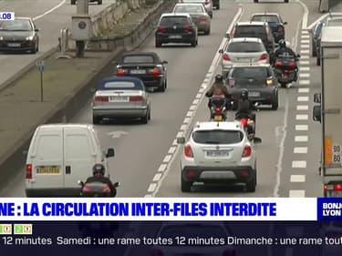 Rhône: la circulation des deux-roues entre les files de voitures interdite à partir du 1er février