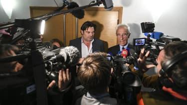 Les avocats du Docteur Frédéric Péchier, Jean-Yves Le Borgne et Randall Schwerdorffer, le 16 mai 2016 au tribunal de Besançon
