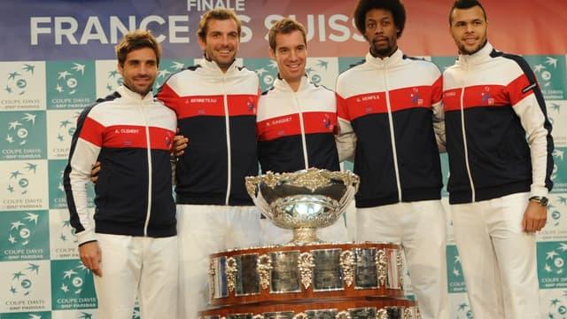 L'équipe de France de tennis affronte la Suisse en finale de Coupe Davis.