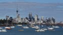 Les immeubles de bureaux d'Auckland, en Nouvelle Zélande.