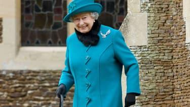 La reine Elizabeth II à Sandringham en 2012