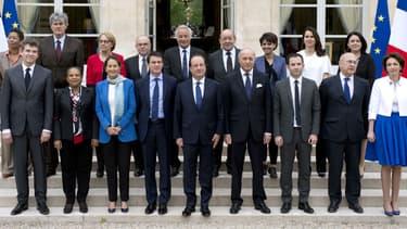 Le premier gouvernement de Manuel Valls, nommé en mars 2014