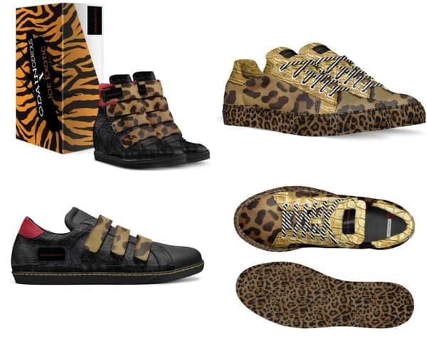 Les sneakers de la collection Joe Exotic x Odaingerous