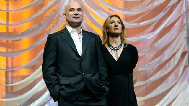 Andre Agassi et Steffi Graff