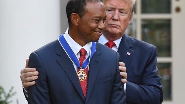 Tiger Woods et Donald Trump