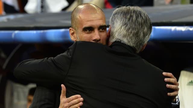 Pep Guardiola enlace Carlo Ancelotti, son successeur