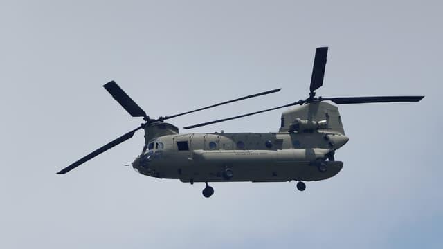 Un hélicoptère de l'armée américaine Chinook, en 2018 (illustration).