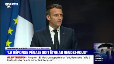"""Emmanuel Macron: """"C'est une réalité de dire qu'il y a de la violence dans notre société et qu'elle enfle"""""""