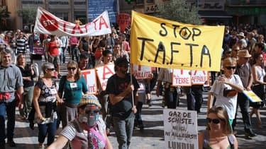 De nombreuses mobilisations contre le TTIP (appelé également Tafta) sont organisées partout en Europe.
