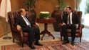 Le président libanais Michel Aoun et son Premier ministre Saad Hariri à Baabda au Liban le 3 novembre 2016.