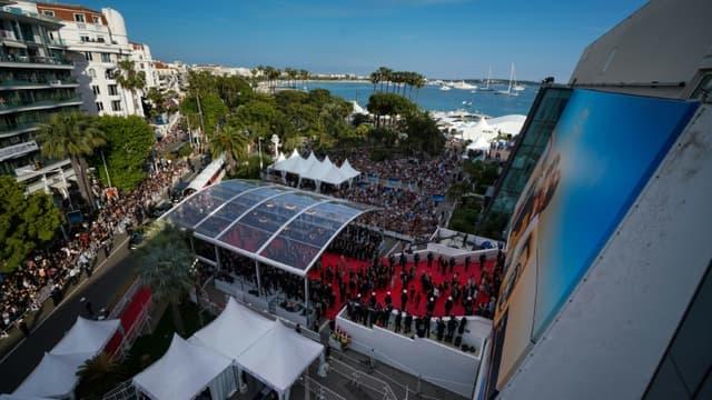 Vue du cadre du festival de Cannes en mai 2018