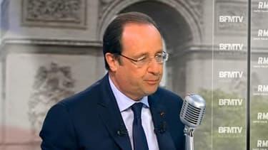 François Hollande s'exprimait ce 6 mai sur BFMTV et RMC