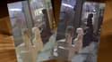 A gauche, la statuette filmée le 2 avril. A droite, la même statuette filmée le 7 avril.