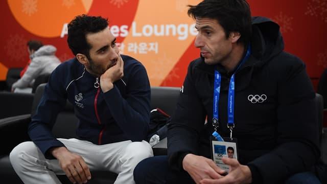 Martin Fourcade et Tony Estanguet à Pyeongchang