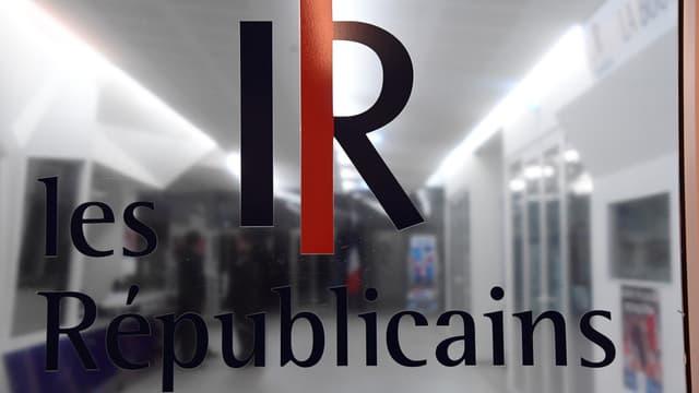 L'entrée du siège des Républicains, rue de Vaugirard à Paris.