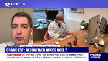 """Jean-Rottner (Président de la région Grand Est): """"Entre le 4 et le 10 janvier on risque d'avoir une saturation de la réanimation"""""""