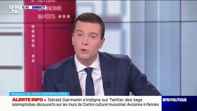 """Pour Jordan Bardella, Jean-Luc Mélenchon est """"dans une longue descente anti-républicaine"""""""