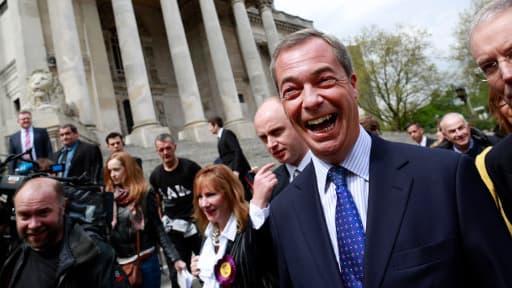Nigel Farage, le candidat de l'UKIP élu aux européennes dans le sud-est de la Grande-Bretagne.