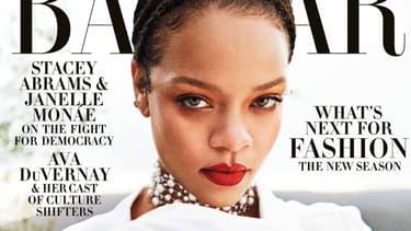 Rihanna sur la couverture de Harper's Bazaar