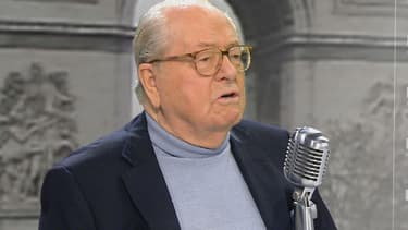 Jean-Marie Le Pen sur le plateau de BFMTV-RMC, jeudi 2 avril 2015