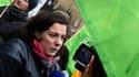 Emmanuelle Cosse, secrétaire générale d'Europe Ecologie - Les Verts lors d'une manifestation en mars 2015 à Paris.