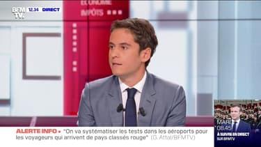 """Gabriel Attal: """"On souhaite mener au bout la réforme des retraites"""""""