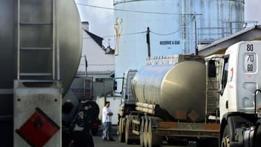 Un dépôt de carburant à Lorient (Image d'illustration).