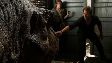 "Chris Pratt et Bryce Dallas Howard dans ""Jurassic World: Fallen Kingdom"""