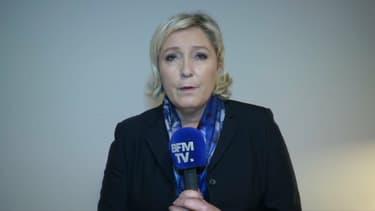 Marine Le Pen vendredi soir sur BFMTV