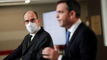 Le Premier ministre Jean Castex et le ministre de la Santé Olivier Véran le 3 décembre 2020