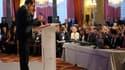 Lors d'une conférence de presse à l'Elysée, Nicolas Sarkozy a déclaré que la France n'avait pas pris la juste mesure de la révolte des Tunisiens qui a conduit au départ du président Zine Ben Ali. /Photo prise le 24 janvier 2011/REUTERS/Philippe Wojazer