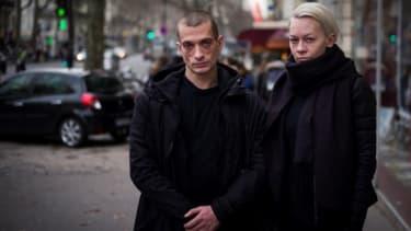Piotr Pavlenski et sa compagne, Oksana Chaliguina.