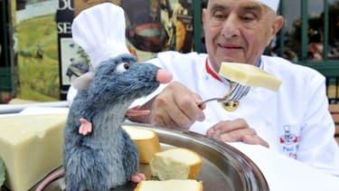 Rémi de Ratatouille avec Paul Bocuse en 2013.