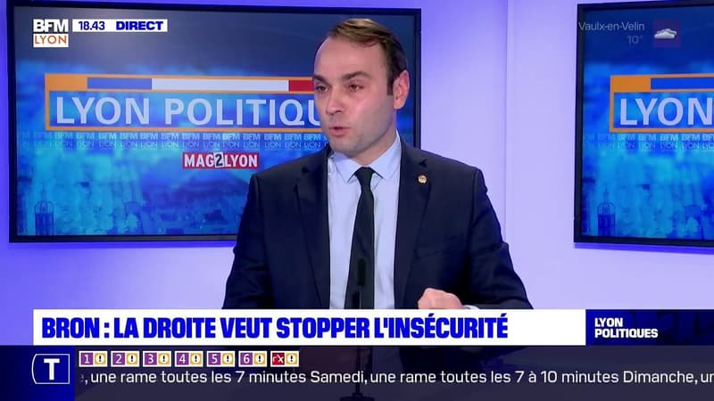 Jérémie Bréaud, maire (LR) de Bron, assure que l'augmentation du nombre de policiers sera effectif