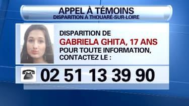 L'appel à témoins lancé par la gendarmerie nationale pour retrouver Gabriela.