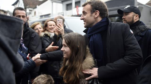 Emmanuel Macron au Touquet, le dimanche 1er avril 2018