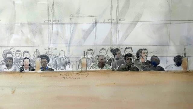 Procès en appel des 13 jeunes accusés d'avoir attaqué et brûlé avec des cocktails Molotov des policiers à Viry-Châtillon en 2016