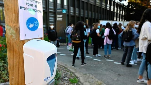 Rentrée dans un lycée à Rennes, le 1er septembre 2020