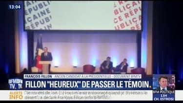 """""""Je reviens de loin, vous m'avez encouragé quand je traversais le désert"""", lance François Fillon lors de son discours d'adieu"""