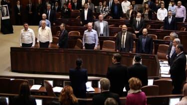 Une minute de silence observée lors d'une session de la Knesset (le Parlement israélien), le 26 octobre 2015.