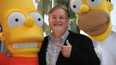 """En 2012, Matt Groening est devenu la 2.459ème étoile sur le """"Walk of Fame"""" d'Hollywood."""