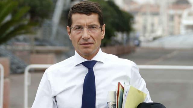 Le maire de Cannes David Lisnard -  le 27 septembre 2013
