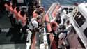 Opération de sauvetage de migrants sur l'Aquarius, le 14 juin 2018.