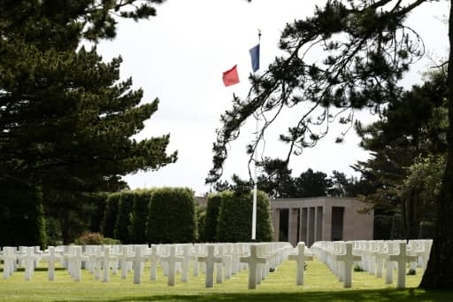 Le cimetière américain de Colleville-sur-Mer, en Normandie, le 6 juin 2020