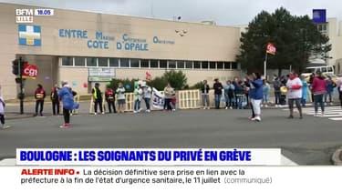 Boulogne-sur-Mer: quatrième jour de grève à la clinique de la Côte d'Opale
