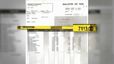 La fiche de paie d'Alexandre Benalla.